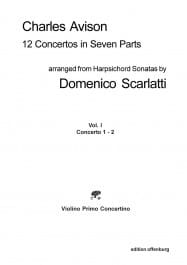 Charles Avison - 12 Concertos in Seven Songs vol 1 concertos 1 - 2 - Parts - Sheet Music - di-arezzo.co.uk