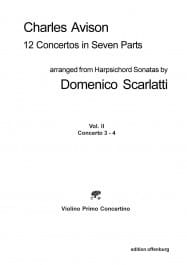 Charles Avison - 12 Concertos in Seven Parts vol 2 concertos 3 - 4 - Parts - Sheet Music - di-arezzo.com
