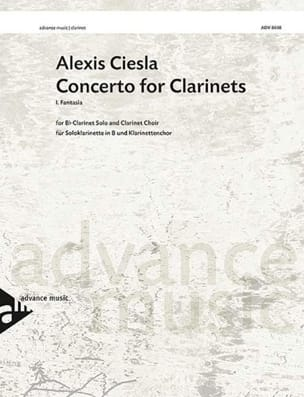 Alexis Ciesla - Concerto for Clarinets 1er mvt Fantasia - score & parts - Partition - di-arezzo.fr