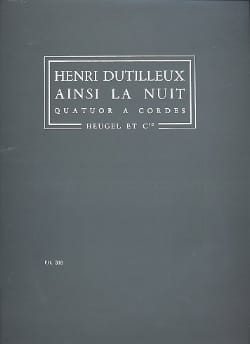 Henri Dutilleux - So the Night - Driver - Sheet Music - di-arezzo.com