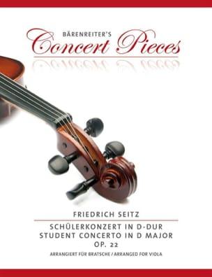 Friedrich Seitz - Concerto en ré majeur, op. 22 - Partition - di-arezzo.fr