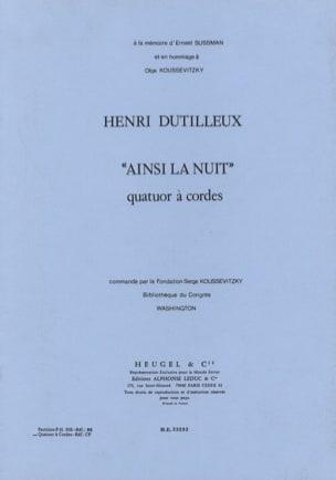 Ainsi la Nuit - Parties - Henri Dutilleux - laflutedepan.com