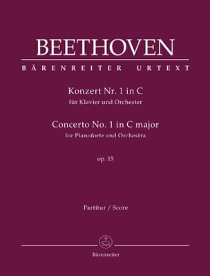 BEETHOVEN - Concerto for Piano and Orchestra No. 1 in C major, op. 15 - Sheet Music - di-arezzo.co.uk