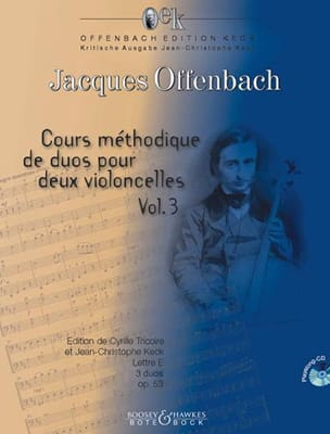 Jacques Offenbach - Methodical course of duets for two cellos - Sheet Music - di-arezzo.com