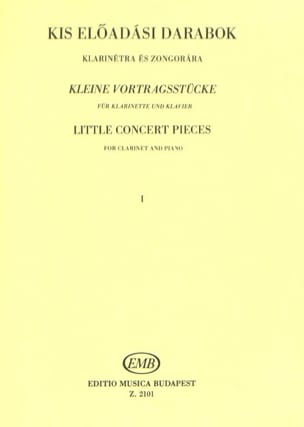 Little Concert Pieces Volume 1 Partition Clarinette - laflutedepan