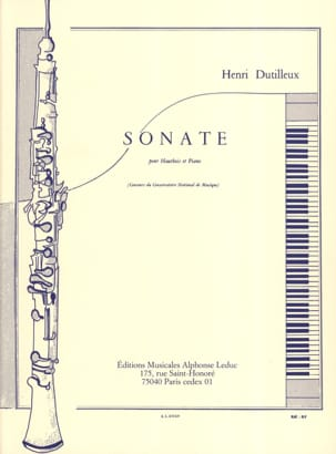 Henri Dutilleux - Sonata for Oboe and Piano - Sheet Music - di-arezzo.com