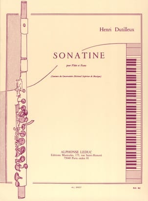 Henri Dutilleux - Sonatine - Sheet Music - di-arezzo.co.uk