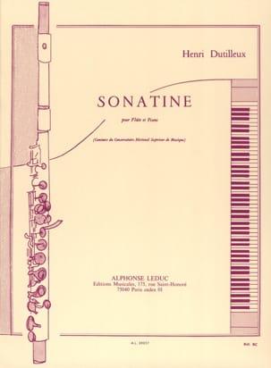 Sonatine DUTILLEUX Partition Flûte traversière - laflutedepan