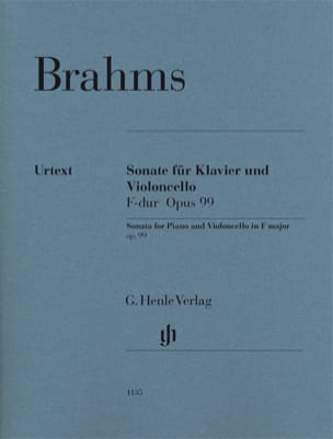 BRAHMS - Sonata for piano and cello in F major op. 99 - Sheet Music - di-arezzo.co.uk