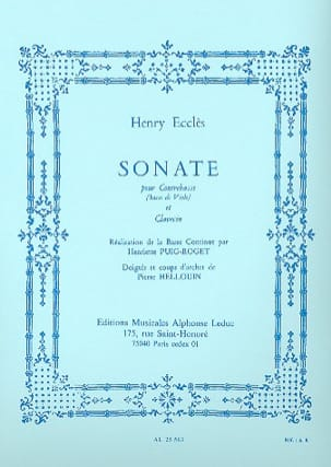 Henry Eccles - Sonata for double bass and harpsichord - Partition - di-arezzo.co.uk