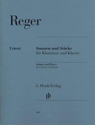 Max Reger - Sonates et oeuvres diverses pour clarinette et piano - Partition - di-arezzo.fr