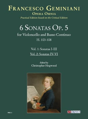 6 Sonates Op. 5 pour violoncelle et basse continue - Volume 2: Sonates 4-6 - laflutedepan.com