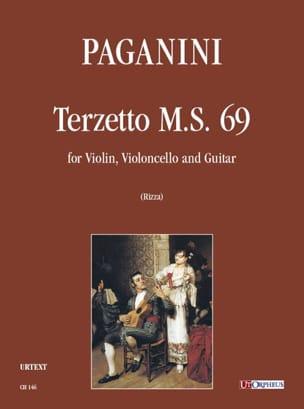 Niccolò Paganini - Terzetto M.S. 69 pour violon, violoncelle et guitare - Partition - di-arezzo.fr
