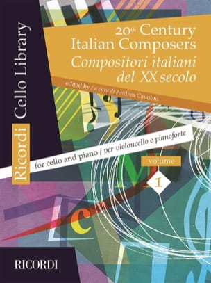 - 20th Century Italian Composers, Volume 1 cello and piano - Sheet Music - di-arezzo.com