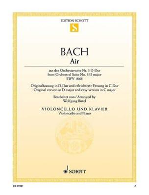 Air de la Suite d'orchestre n° 3 BWV 1068 - BACH - laflutedepan.com