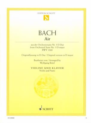 Johann Sebastian Bach - Air de la Suite d'orchestre n° 3 BWV 1068 - Partition - di-arezzo.fr
