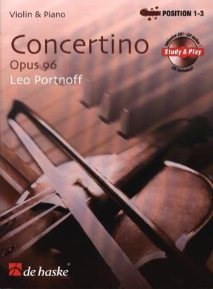 Leo Portnoff - Concertino Opus 96 - Partition - di-arezzo.fr