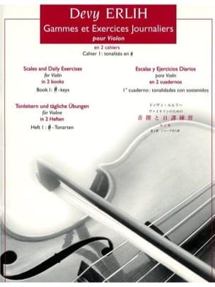 Gammes et Exercices Journ. Volume 1 - Devy Erlih - laflutedepan.com