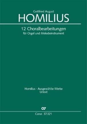 Gottfried August Homilius - 12 Choralbearbeitungen für Orgel und Melodieinstrument - Sheet Music - di-arezzo.com