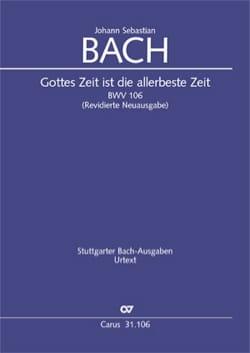 BACH - Gottes Zeit ist die allerbeste Zeit, BWV 106 - Partition - di-arezzo.fr