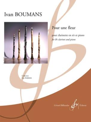 Pour une fleur - Ivan Boumans - Partition - laflutedepan.com