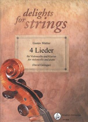 4 Lieder - MAHLER - Partition - Violoncelle - laflutedepan.com