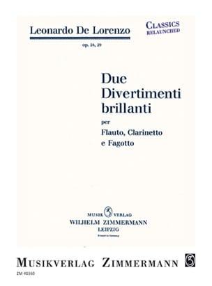 Leonardo de Lorenzo - Due Divertimenti brillanti - Partition - di-arezzo.fr