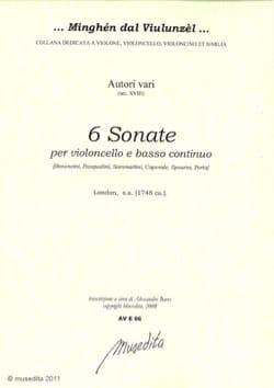 6 sonates Partition Violoncelle - laflutedepan