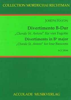 "HAYDN - Divertimento in Bb Major, ""Choral St. Antoni"" - Sheet Music - di-arezzo.com"