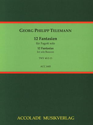 Georg Philipp Telemann - 12 Fantasias - Partition - di-arezzo.fr