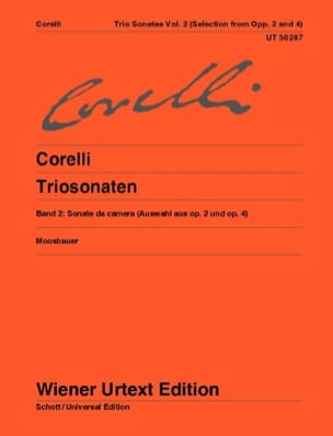 Sonates en trio - Volume 2 - Arcangelo Corelli - laflutedepan.com
