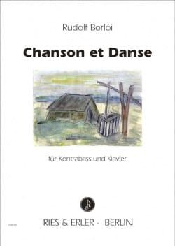 Chanson et danse Rudolf Borloi Partition Contrebasse - laflutedepan