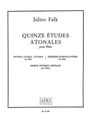 15 Etudes atonales - Flûte Julien Falk Partition laflutedepan