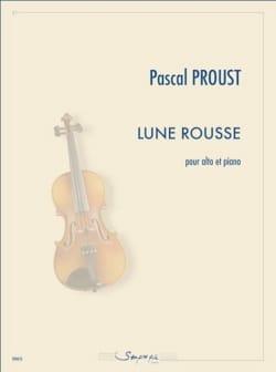 Lune Rousse Pascal Proust Partition Alto - laflutedepan