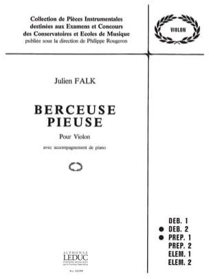 Berceuse pieuse - Julien Falk - Partition - Violon - laflutedepan.com
