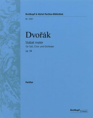 Antonin Dvorak - Stabat Mater op 58 - Partition - di-arezzo.fr