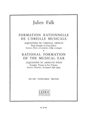 Julien Falk - Formación del oído musical - Volumen 2 - Partitura - di-arezzo.es