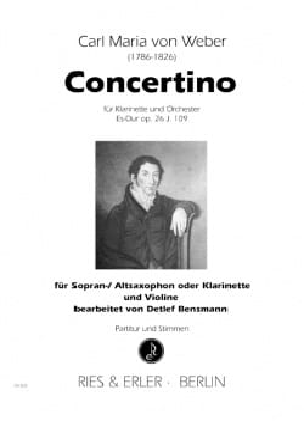 Carl Maria von Weber - Concertino in Eb major op. 26 - Sheet Music - di-arezzo.co.uk