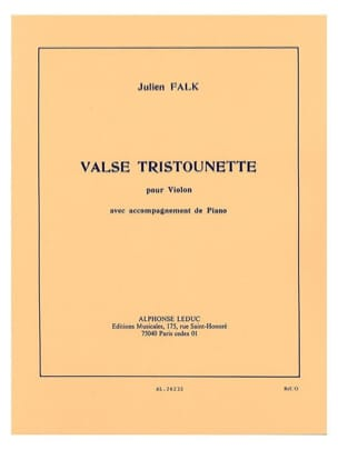 Valse Tristounette Julien Falk Partition Violon - laflutedepan