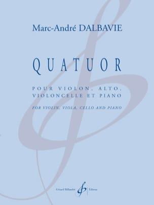 Quatuor - Marc-André Dalbavie - Partition - laflutedepan.com