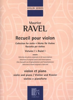 Maurice Ravel - Collection for violin - Volume 1 - Sheet Music - di-arezzo.com