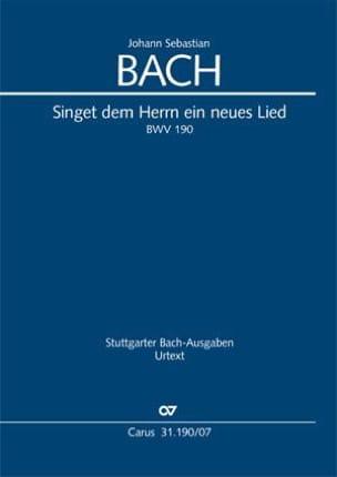 BACH - Singet of Herrn ein neues Lied, BWV 190 - Sheet Music - di-arezzo.com