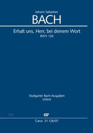 BACH - Erhalt, Herr, bei deinem Wort, BWV 126 - Sheet Music - di-arezzo.co.uk