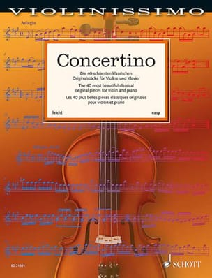 Concertino - Partition - Violon - laflutedepan.com
