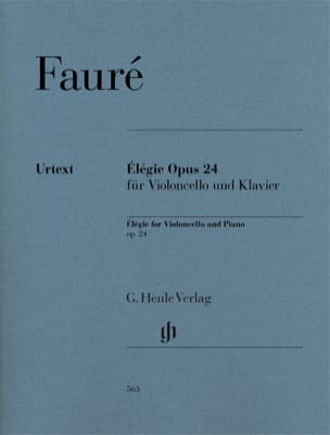 Gabriel Fauré - Elegy for cello and piano, op. 24 - Sheet Music - di-arezzo.co.uk