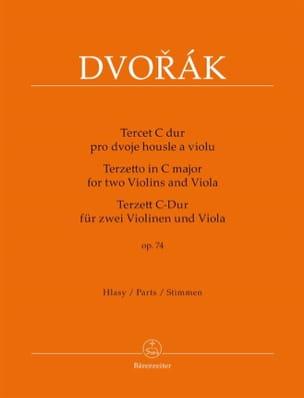 DVORAK - Terzetto pour 2 violons et alto en ut majeur, op. 74 - Partition - di-arezzo.fr