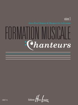 Marguerite LABROUSSE et Jean-Paul DESPAX - Musical Training Singers - Volume 3 - Sheet Music - di-arezzo.com