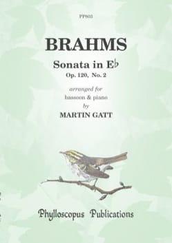 Sonate en mi bémol majeur, op. 120 n° 2 BRAHMS Partition laflutedepan