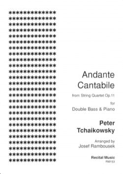 Andante Cantabile du quatuor à cordes op. 11 - laflutedepan.com