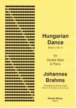BRAHMS - Hungarian Dance (volume 3, n° 13) - Partition - di-arezzo.fr